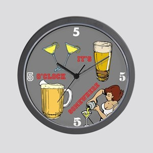 5'oclock Somewhere Bar Wall Clock
