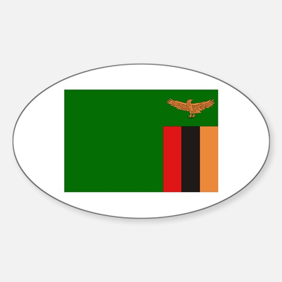Flag of Zambia Oval Decal