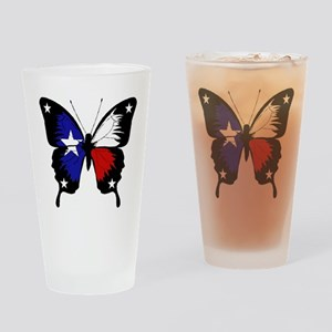 Texas Butterfly Drinking Glass