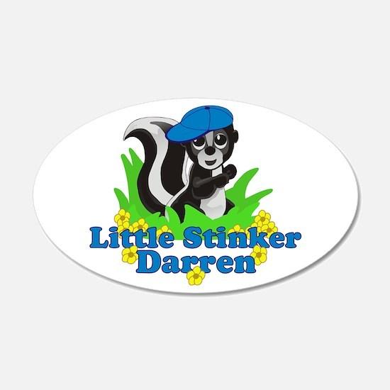 Little Stinker Darren 22x14 Oval Wall Peel