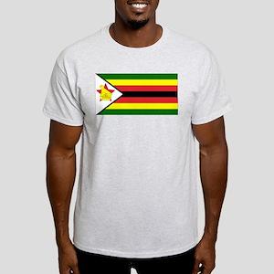 Flag of Zimbabwe Ash Grey T-Shirt