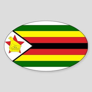 Flag of Zimbabwe Oval Sticker