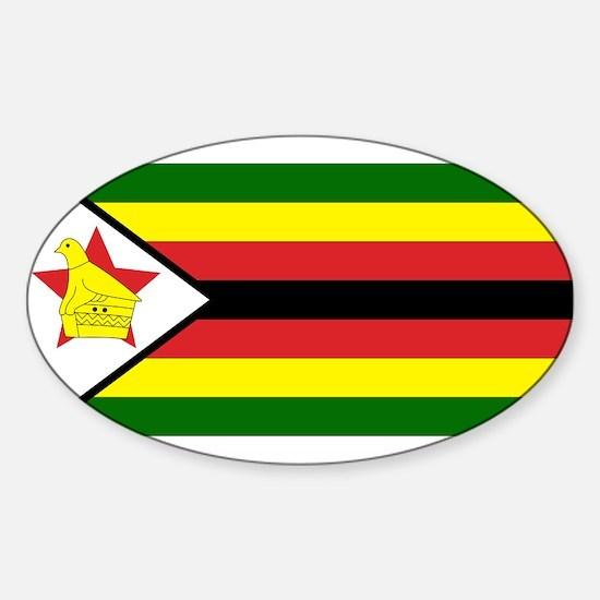 Flag of Zimbabwe Oval Decal