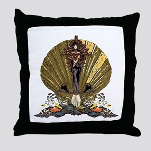Sea Goddess Throw Pillow