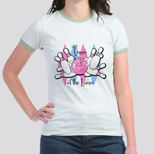 Queen of the Lanes Jr. Ringer T-Shirt