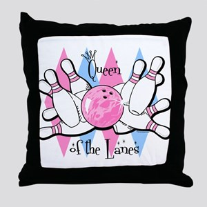 Queen of the Lanes Throw Pillow