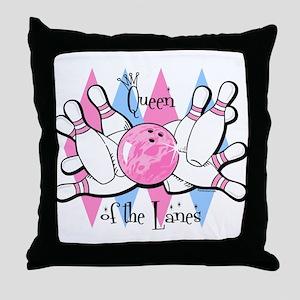 Queen of the Lanes Throw Pillow