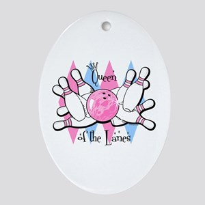 Queen of the Lanes Ornament (Oval)