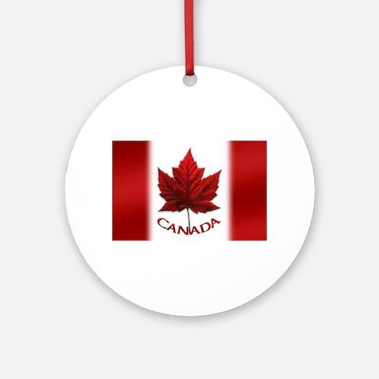 Canada Flag Souvenir Round Ornament
