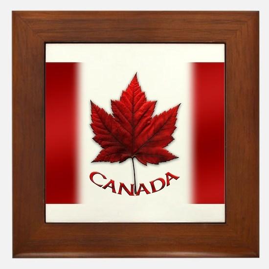 Canada Flag Souvenir Framed Tile