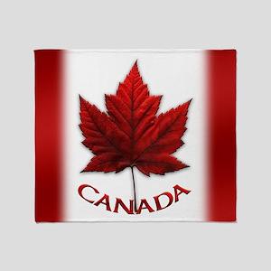 Canada Flag Souvenir Throw Blanket