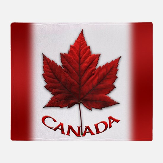 Canada Flag Souvenir Throw Blanket
