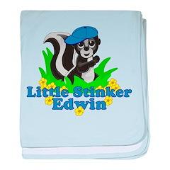 Little Stinker Edwin baby blanket
