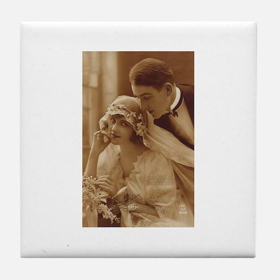 Vintage Wedding Tile Coaster