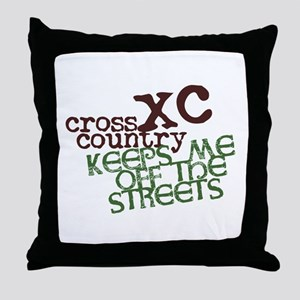 XC Keeps off Streets © Throw Pillow