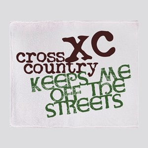 XC Keeps off Streets © Throw Blanket
