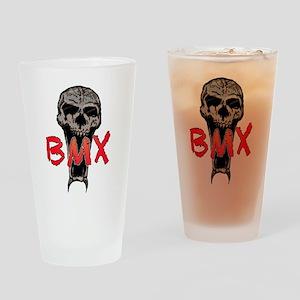 BMX skull Drinking Glass