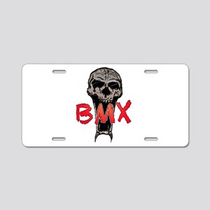 BMX skull Aluminum License Plate