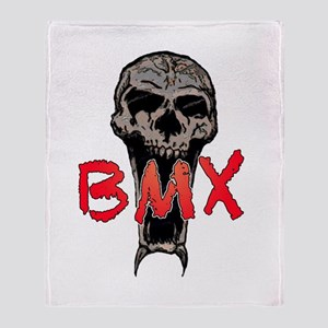BMX skull Throw Blanket