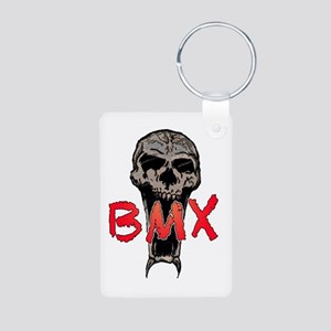 BMX skull Aluminum Photo Keychain