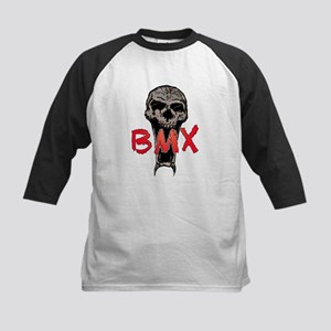BMX skull Kids Baseball Jersey