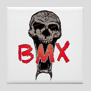 BMX skull Tile Coaster