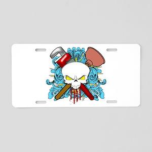 Plumber Skull Aluminum License Plate