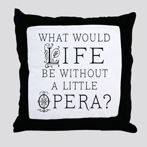 Opera Singer Gift Throw Pillow