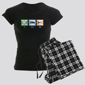 Eat Sleep Cut Women's Dark Pajamas