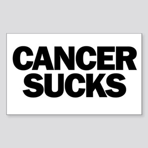 Cancer Sucks Sticker (Rectangle)