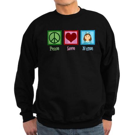 Peace Love Nurse Sweatshirt (dark)
