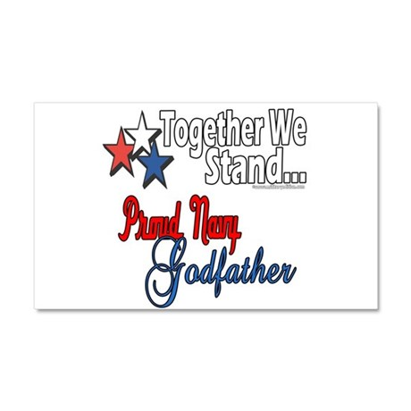 Navy Godfather Car Magnet 20 x 12