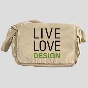 Live Love Design Messenger Bag