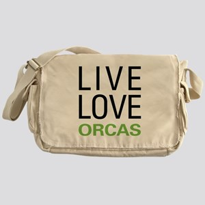 Live Love Orcas Messenger Bag