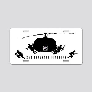 2nd INFANTRY DIVISION Aluminum License Plate