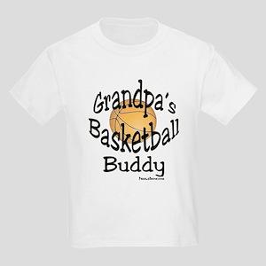 BASKETBALL GRANDPA'S BUDDY Kids Light T-Shirt