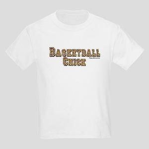 BASKETBALL CHICK Kids Light T-Shirt