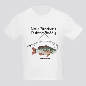 FISHING WITH LITTLE BROTHER Kids Light T-Shirt