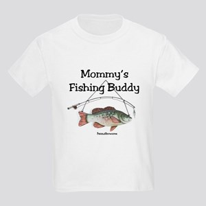 FISHING WITH MOMMY Kids Light T-Shirt