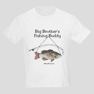 FISHING WITH BIG BROTHER Kids Light T-Shirt