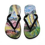 Tropical Scene Flip Flops