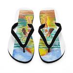 Twins at Beach Flip Flops