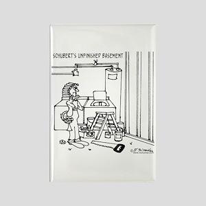 Schubert's Unfinished Basement Rectangle Magnet