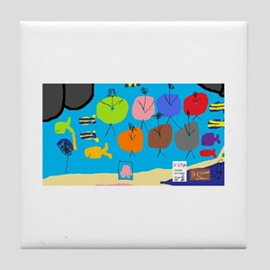 HI Beach Floats~Kidsplaypost.com~ Tile Coaster