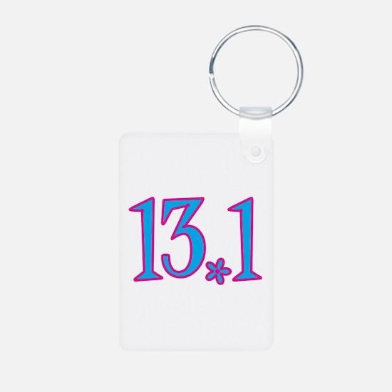 13.1 pink blue flower Keychains