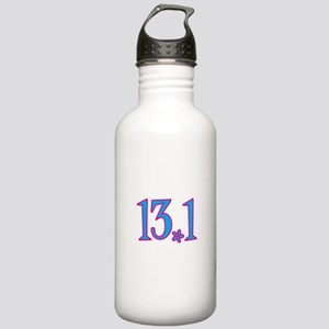 13.1 pink blue flower Stainless Water Bottle 1.0L