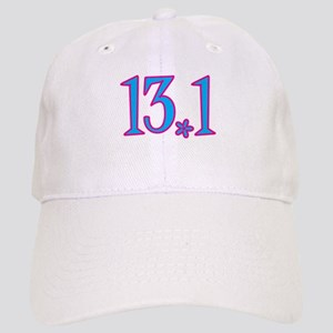 13.1 pink blue flower Cap