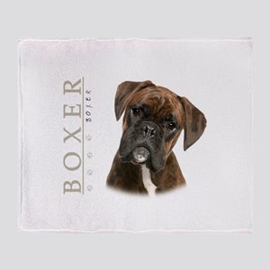 Brindle Boxer Throw Blanket