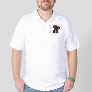 Brindle Boxer Golf Shirt