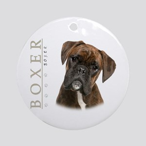 Brindle Boxer Ornament (Round)